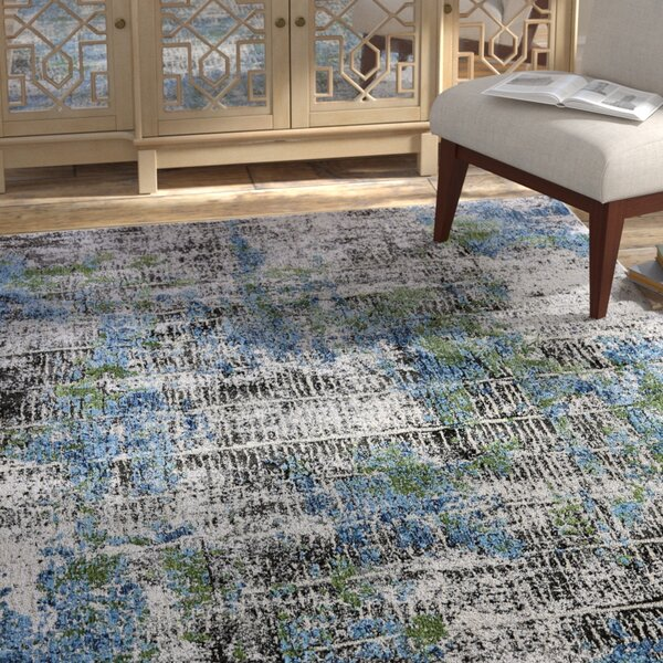 Dovewood Blue/Gray Area Rug by Bungalow Rose