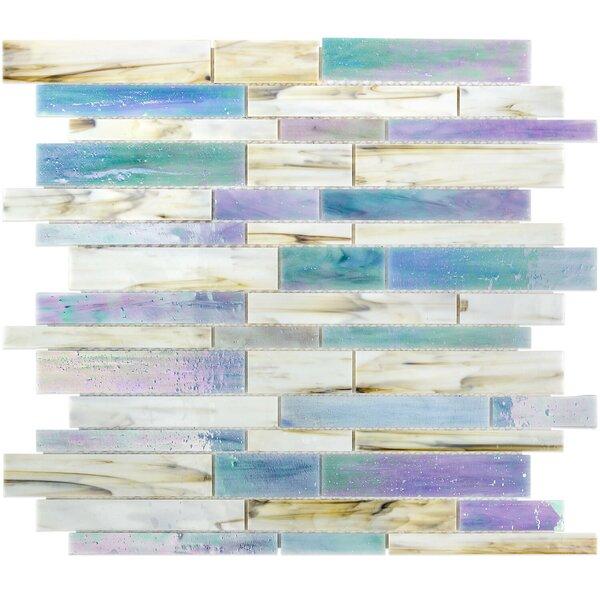 Matchstix Random Sized Glass Mosaic Tile in Fate by Splashback Tile