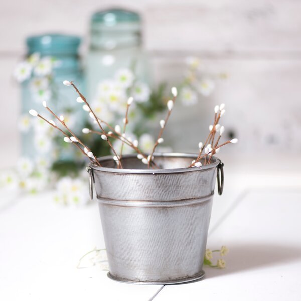 Luna Medium Tin Pot Planter by Gracie Oaks