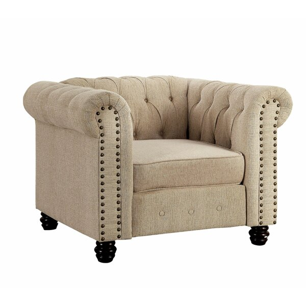 Spalding Chesterfield Chair By Canora Grey