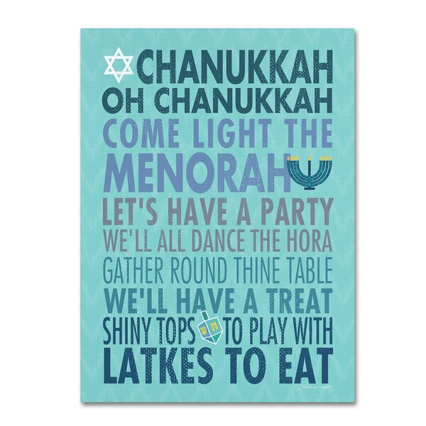 Stupell Home D/écor Wishing You A Happy Chanukkah Wall Plaque Art Proudly Made in USA 10 x 0.5 x 15