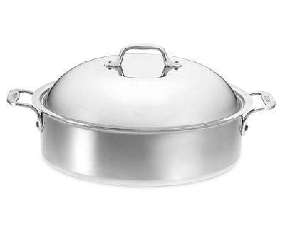 D3 6 Qt. Stainless Steel Round Braiser with Lid by All-Clad