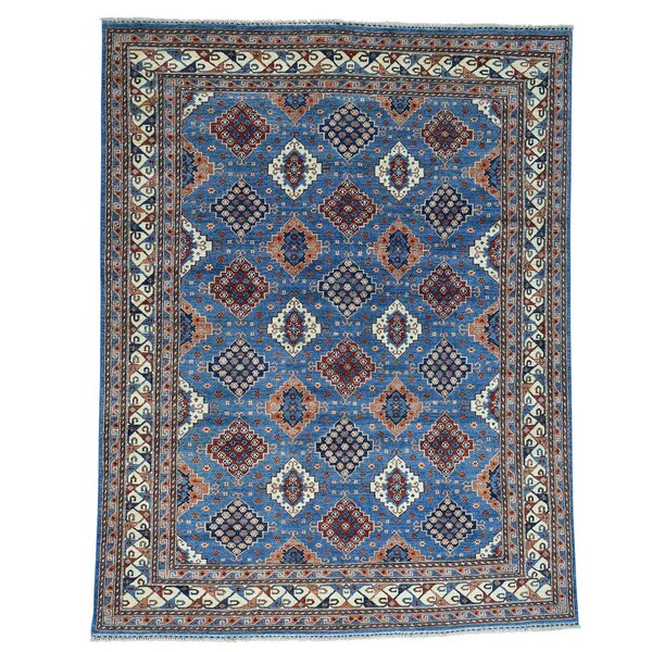 One-of-a-Kind Graybill Super Hand-Knotted Denim Blue Area Rug by Bloomsbury Market