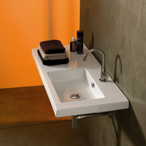 Condal Ceramic 40 Wall Mount Bathroom Sink with Overflow by Ceramica Tecla by Nameeks