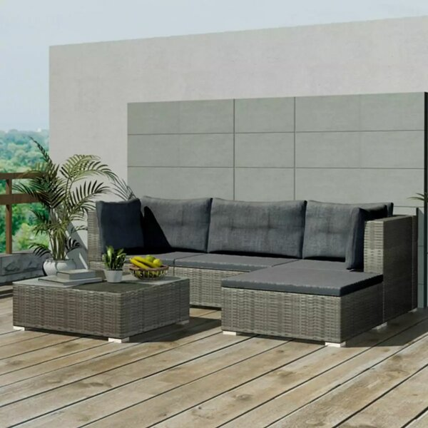 Staveley Garden 5 Piece Sofa Seating Group with Cushions by Ivy Bronx