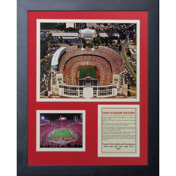 Ohio State Buckeyes Ohio Stadium Framed Memorabilia by Legends Never Die