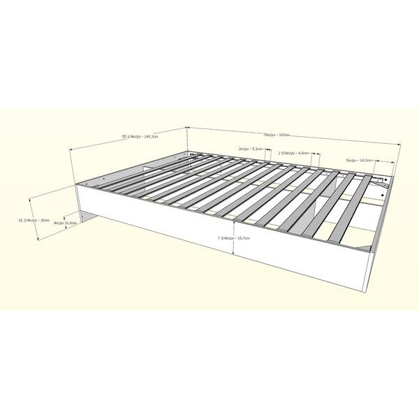 #1 Cirencester Platform Bed By Wade Logan Wonderful