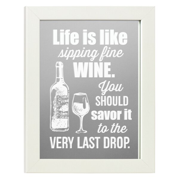 Bradlee Life is Like Wine Accent Mirror by Winston Porter