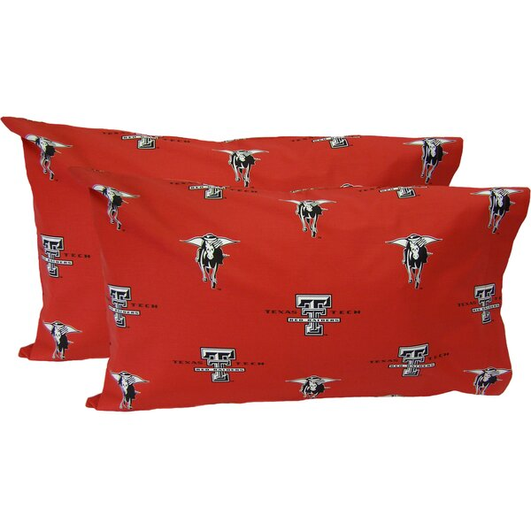 Collegiate NCAA Texas Tech Red Raiders Pillowcase (Set of 2) by College Covers