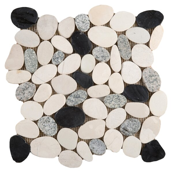 Flat Venetian Pebbles 12 x 12 Mosaic Tile in Italia Blend by Emser Tile