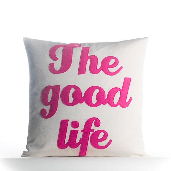 The Good Life Outdoor Throw Pillow by Alexandra Ferguson