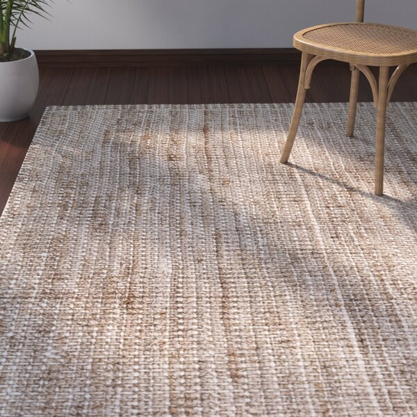Campbell Hand-Woven Tan/Ivory Area Rug by Bay Isle Home