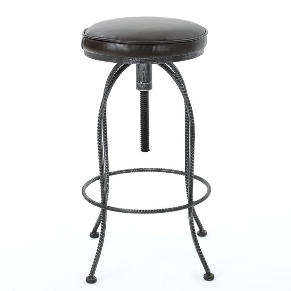 Benoit Adjustable Height Swivel Bar Stool by Williston Forge