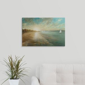 Coastal Glow by Danhui Nai Painting Print on Wrapped Canvas by Great Big Canvas