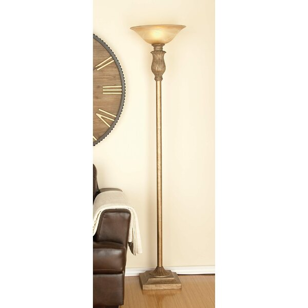 Metal Glass 71 Torchiere Floor Lamp by Cole & Grey