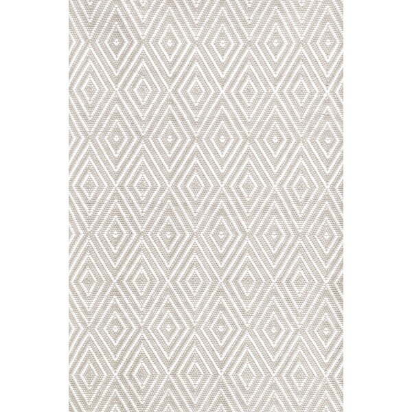 Diamond Hand-Woven Gray/White Indoor/Outdoor Area Rug by Dash and Albert Rugs