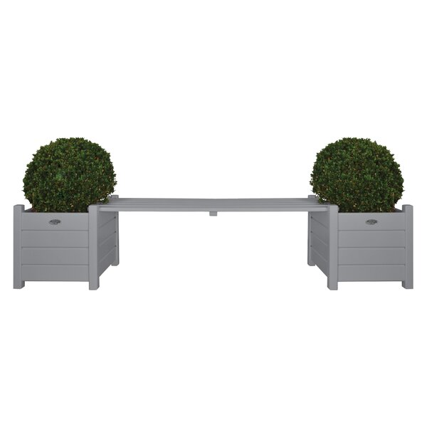 Rahman Square Wood Planter Bench by Charlton Home