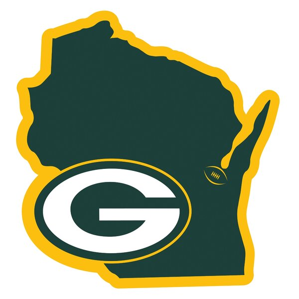 NFL Green Bay Packers Home State Magnet by Siskiyou Products