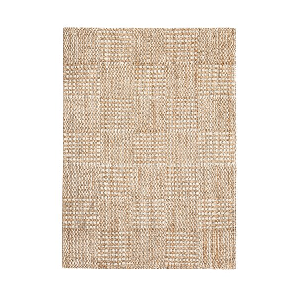 Whitney Hand-Woven Tan/Ivory Area Rug by August Grove