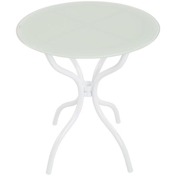 Hollander Glass Side Table By Ebern Designs