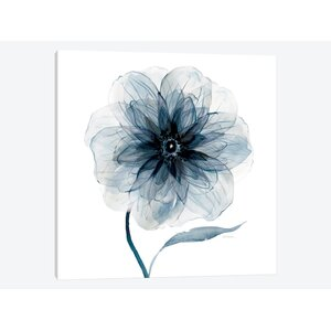 'Indigo Bloom III' Graphic Art Print on Wrapped Canvas by East Urban Home
