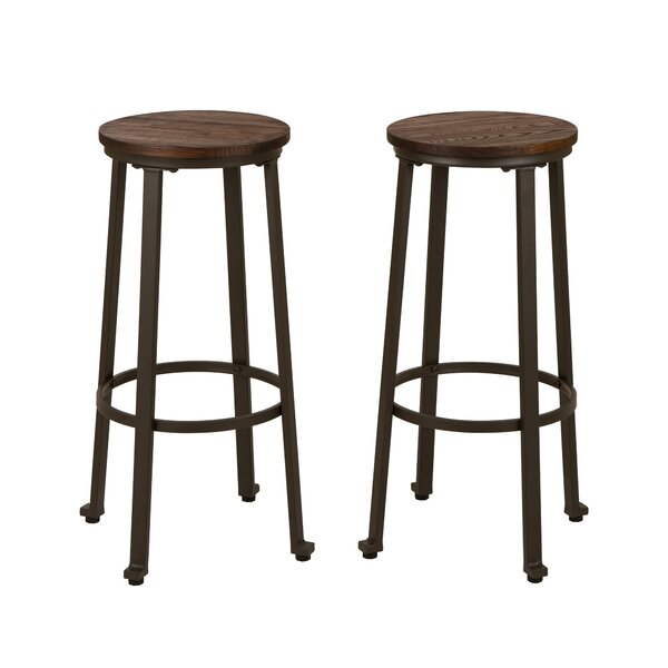 Clevenger 29 Bar Stool (Set of 2) by Williston Forge