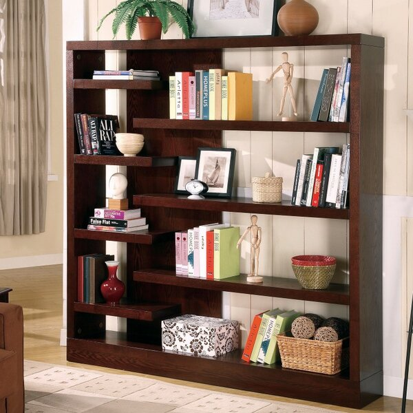 Winterville Asymmetrical Wooden Standard Bookcase by Brayden Studio