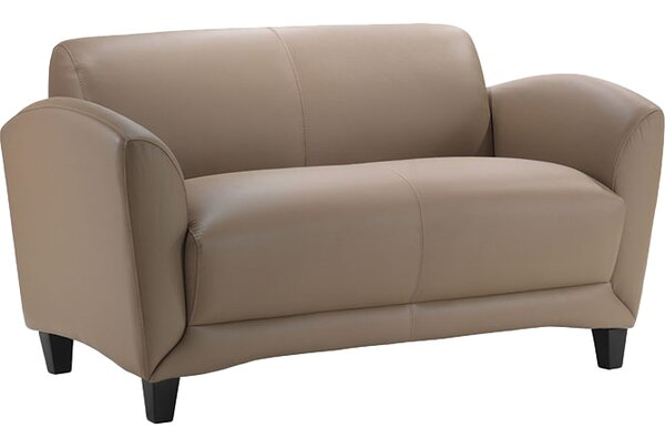 Manhattan Leather Loveseat by OfficeSource