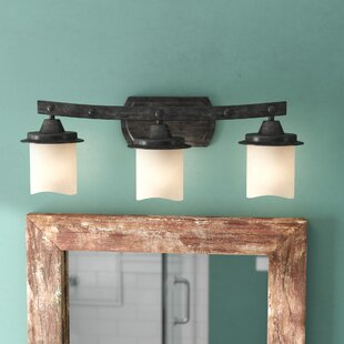 Compare prices Leonie 3-Light Vanity Light By Laurel Foundry Modern Farmhouse