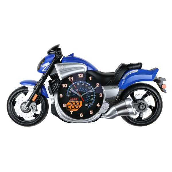 Guilford Bike Motorcycle Wall Clock by Zoomie Kids