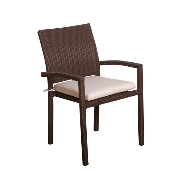 Elmira Patio Dining Chair with Cushion (Set of 4) by Bayou Breeze