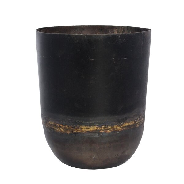 Presidio Recycled Iron Pot Planter by World Menagerie