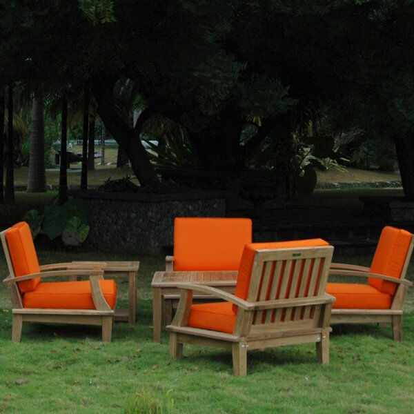 Boyden 6 Piece Teak Teak Seating Group by Freeport Park