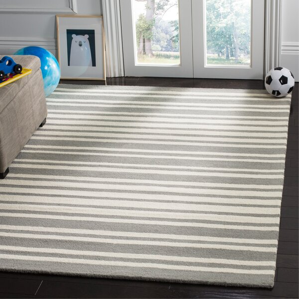 Brenner Barcode Hand-Tufted Gray Area Rug by The Twillery Co.
