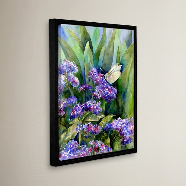 White Butterfly Framed Painting Print by Red Barrel Studio