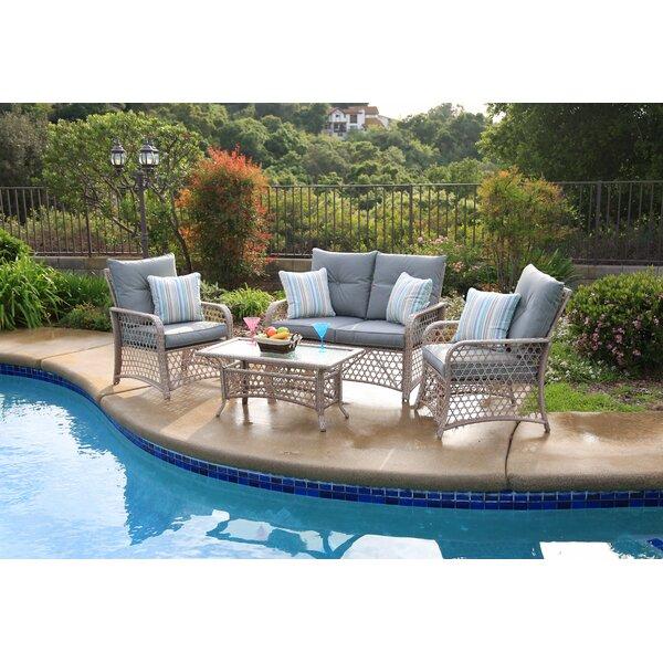 4 Piece Sofa Set with Cushions by Birch Lane™