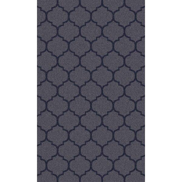 Twinbrook Navy Geometric Rug by Charlton Home