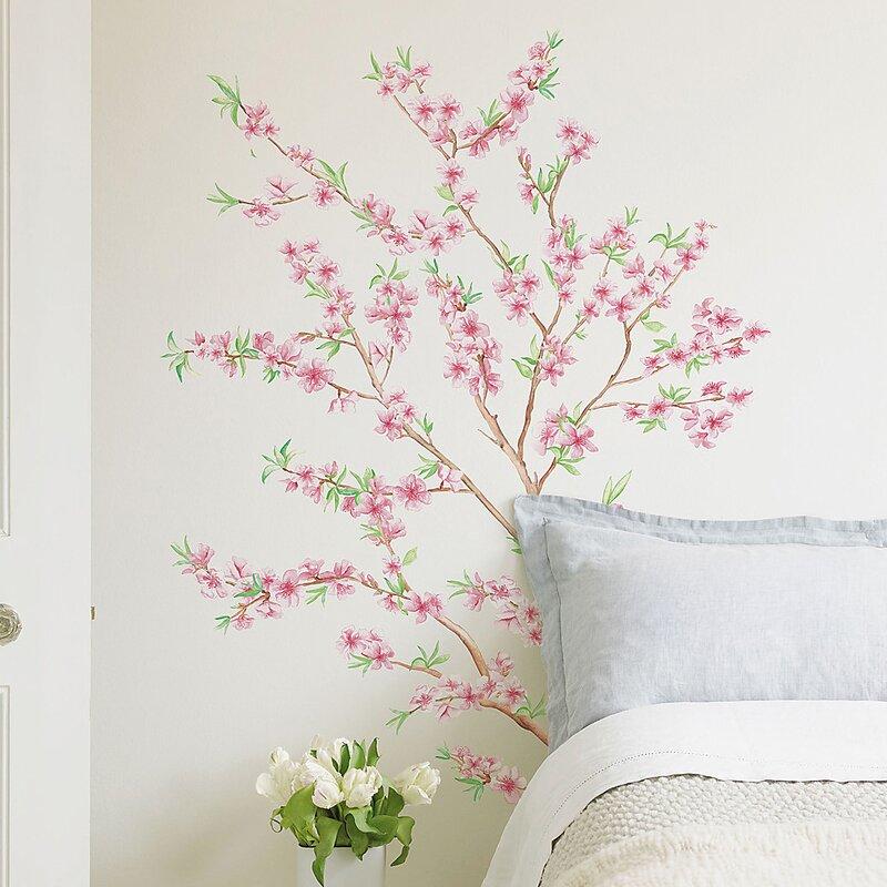 Brewster Home Fashions Euro Peach Branch Wall Decal