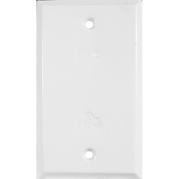 Vertical Blank One Gang Weatherproof Covers in White by Morris Products