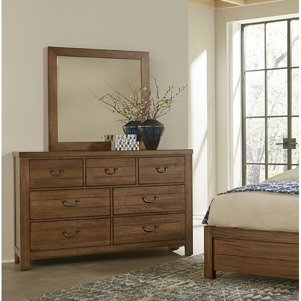 7 Drawer Double Dresser with Mirror by Kitsco
