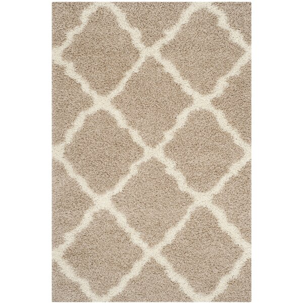 Fickes Beige/Ivory Area Rug by House of Hampton