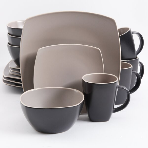 Kendell 16 Piece Dinnerware Set, Service for 4 by