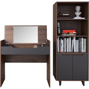 Aristocles Vanity with Mirror by Mercury Row