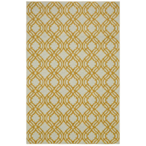 Sammons Crème/Yellow Area Rug by Longshore Tides