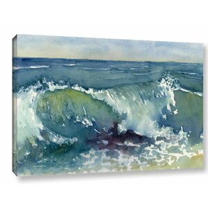 'Shore Break' Painting Print Wrapped on Canvas by Rosecliff Heights