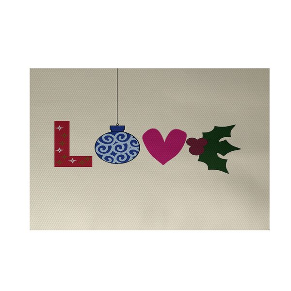Love! Decorative Holiday Word Print Indoor/Outdoor Area Rug by The Holiday Aisle
