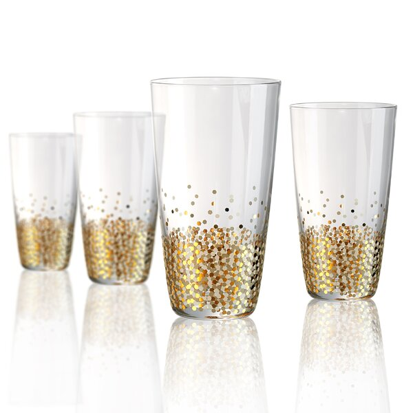 Conner 16 Oz. Highball Glass (Set of 4) by Mint Pantry