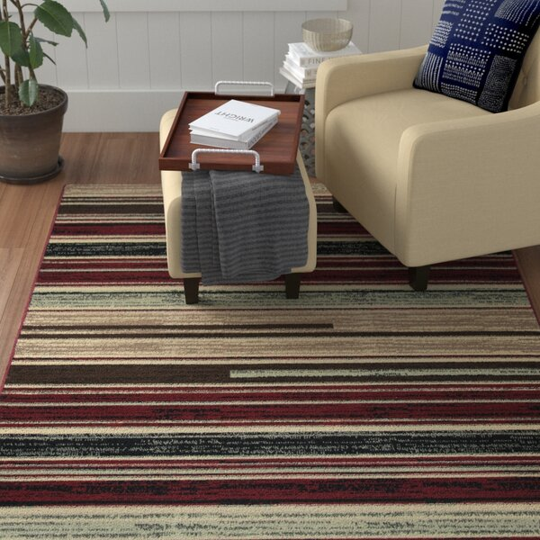 Church Beige/Red/Black Area Rug by Winston Porter