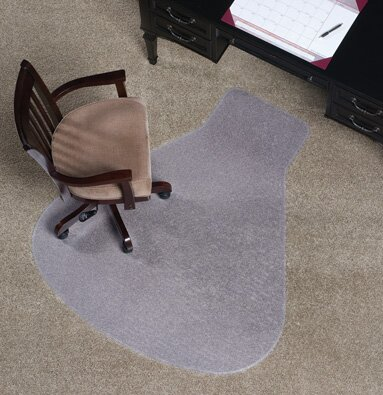 Workstation Medium Plush Carpet Chair Mat by ES Robbins Corporation