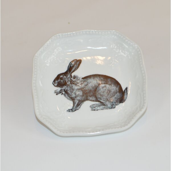 Rabbit Checker Bow Decorative Plate by The French